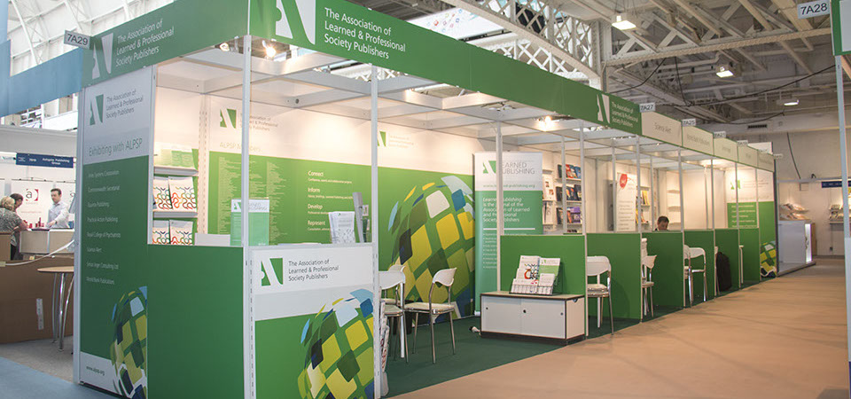 ALPSP stand at the London Book Fair stand 2015